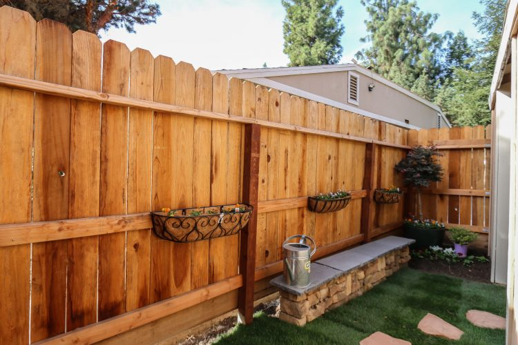 Countryside Backyard Fence Photo